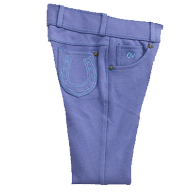 Ovation® Pull-On Knee Patch Horseshoe Tight - Child's