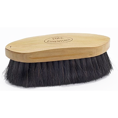 wood back dandy brush with horse hair