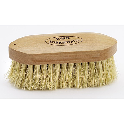 wood back dandy brush with tampico bristles