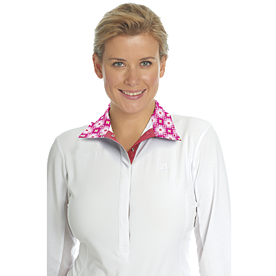 Romfh® Stephanie White-Pink Disco Show Shirt