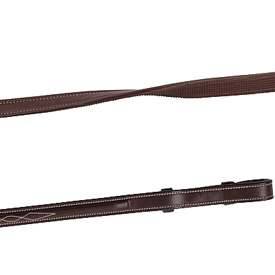 House of Montar Smooth brown leather/rubber reins