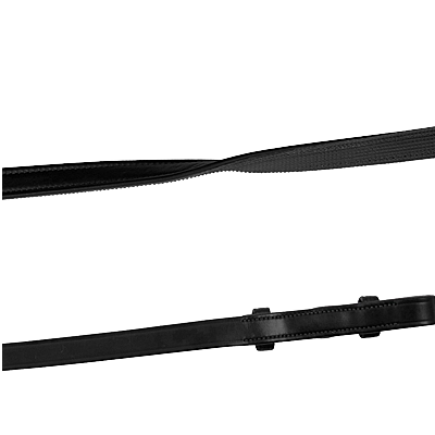 House of Montar Smooth black leather/rubber reins