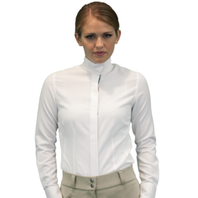 RHC Equestrian Ladies Classic Fit Wrap Collar Shirt 68225