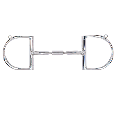 Myler Dee with Hooks with Stainless Steel Comfort Snaffle Wide Barrel MB 02 - 89-22025/27