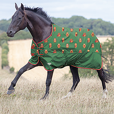 Shires Tempest Original 200 Gram Turnout Blanket-Autumn Owl