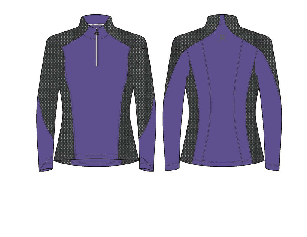 Chestnut Bay Performance Rider 1/4 Zip Pullover- Liberty Purple