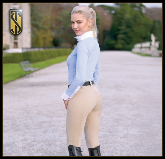 Tredstep Symphony Nero Front Zip Knee Patch Breeches