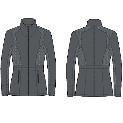 Chestnut Bay Active Rider Warm-up Jacket-Gray Twill