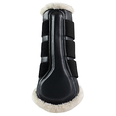 Horze Brushing Boots with Faux Fur Pile Lining