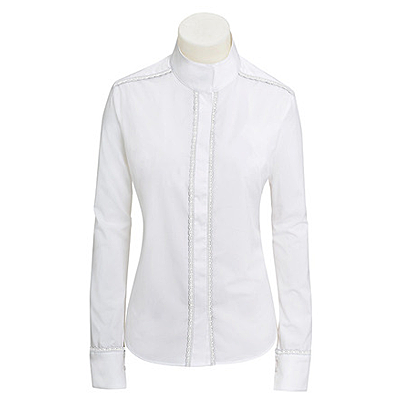 RJ Classics Plymouth Ladies White Lace Show Shirt -PL610A