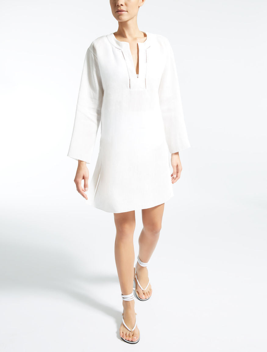 Linen Tunic in white by Maxmara
