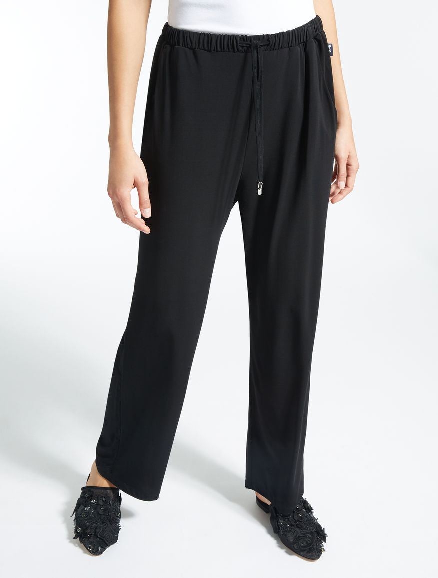 Viscose crêpe trousers in NAVY by MaxMara
