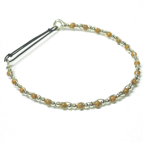 Nickel Silver and Gemstone Circlet - Straight Style