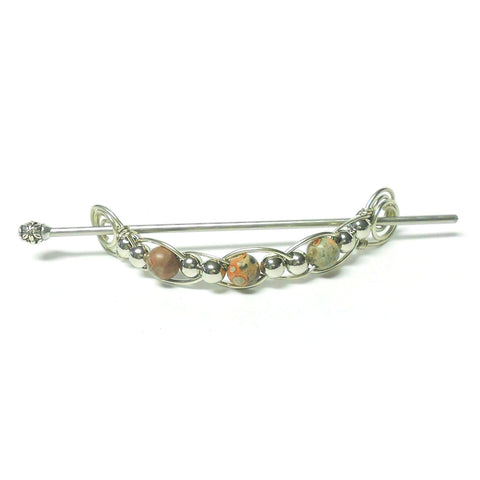 Gemstone Woven Barrette - The Lover's Knot Jewelry