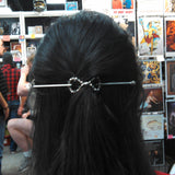 Glass Infinity Barrette - Small