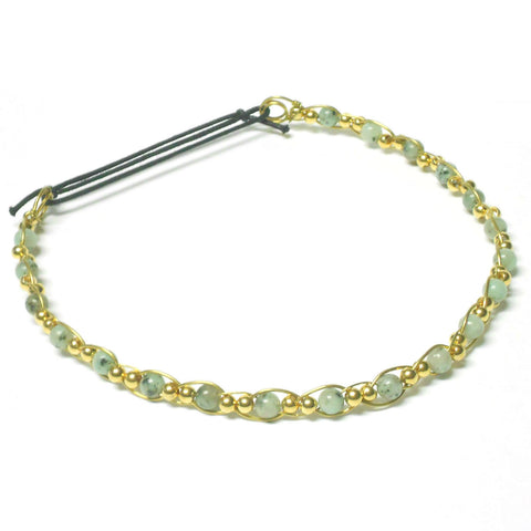 Brass and Gemstone Circlet - Straight Style