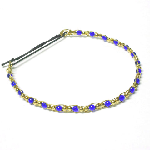 Brass and Glass Circlet - Straight Style - The Lover's Knot Jewelry