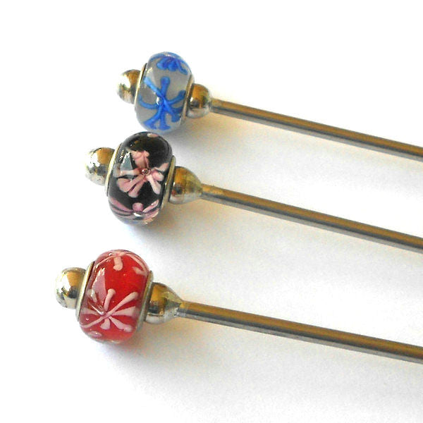 Steel Hair Stick with Daisy