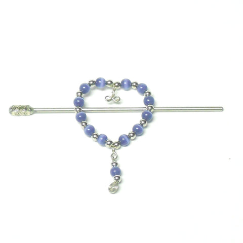 Glass Heart Barrette