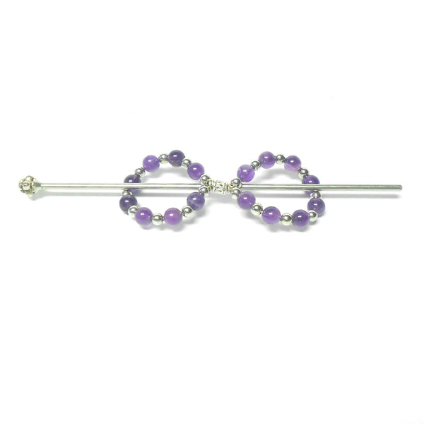Gemstone Infinity Barrette - Large