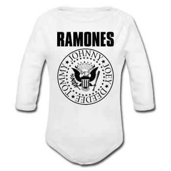 Ramones Baby Long Sleeve Onesie (Black Logo)