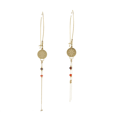 Boucles d'oreille ZAG Laure Or / Orange