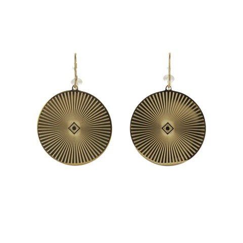 Boucles d'oreille ZAG JAVA or jaune