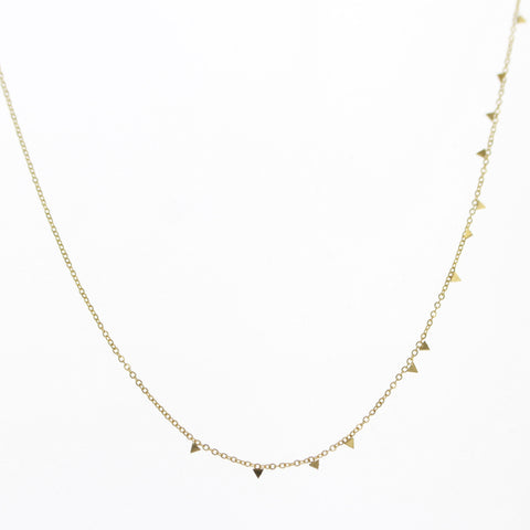 Collier micro triangle or jaune 7 bis