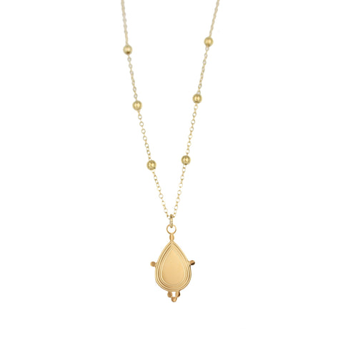 Collier ZAG Elvira or jaune