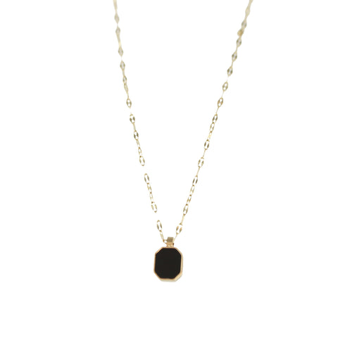 Collier ZAG Java noir or jaune