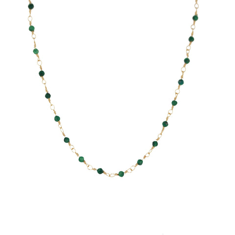 Collier ZAG or Joséphine malachite