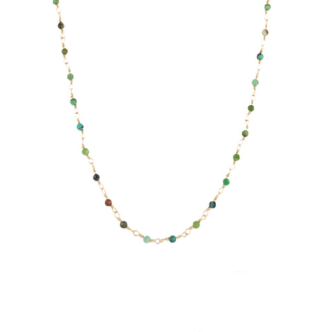 Collier ZAG or Joséphine Turquoise Africaine Multicouleurs