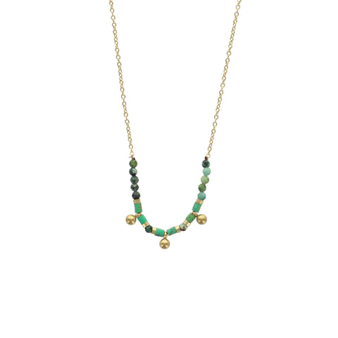 Collier ZAG Andi Or / Turquoise Africaine