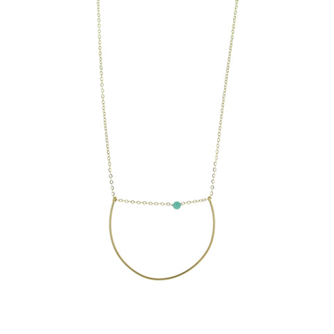 SOMSO: ZAG - Collier ZAG Or Deep / Turquoise
