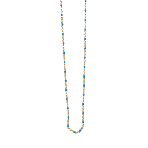 Collier SOMSO Nusa Or / turquoise foncé