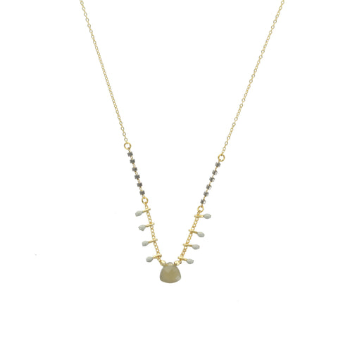 Collier ZAG Fany Or / Gris