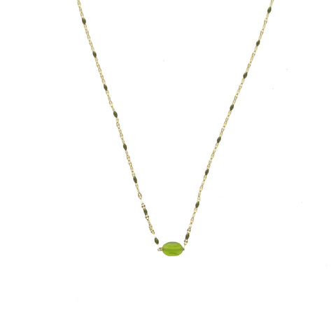 Collier ZAG José Or / Vert Olive