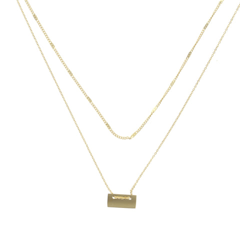 Collier double ZAG Letter Or