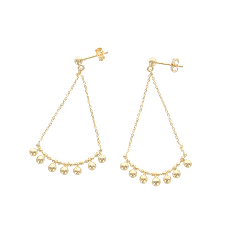 SOMSO: SOMSO - ° Boucles d'oreilles SOMSO Jala or jaune °