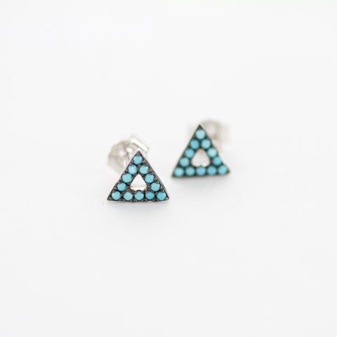 SOMSO: SOMSO - Boucles d'oreilles Pia argent turquoise