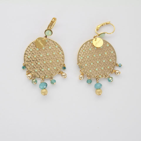 Gwapita Boucles d'oreilles Maggie turquoise