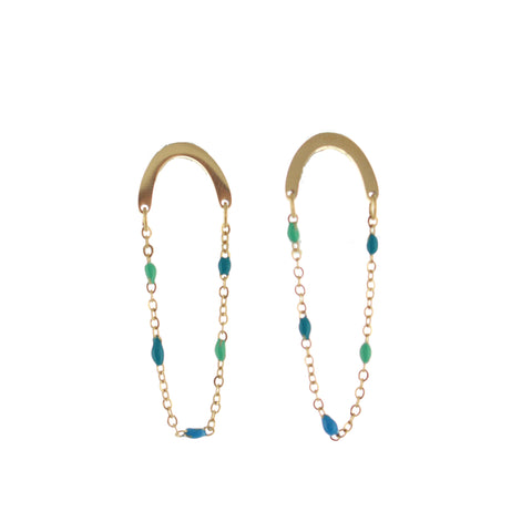 SOMSO: SOMSO - : : Boucles d'oreille SOMSO Jess turquoise multicolor : :