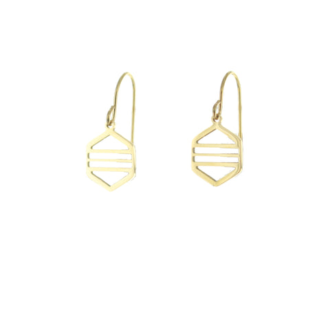 SOMSO: SOMSO - : : Boucles d'oreille SOMSO Mona or jaune : :