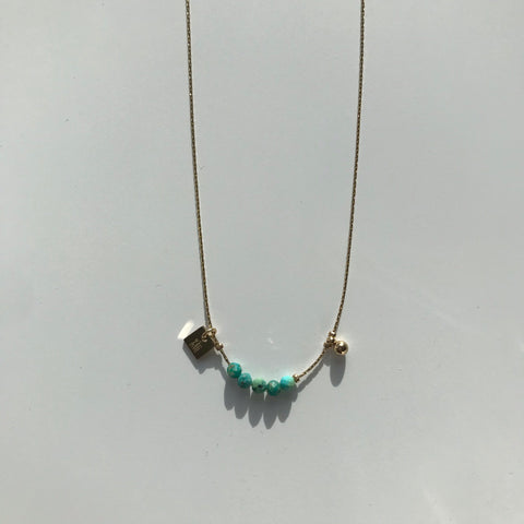 SOMSO: ZAG - Collier ZAG Drew Or  / Turquoise Africaine