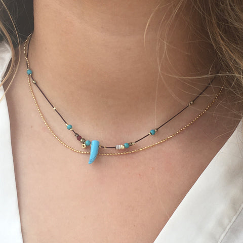 Collier ZAG Thea Or/ Turquoise
