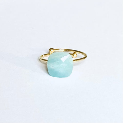 Bague ZAG Lau Or / Aqua Opaque