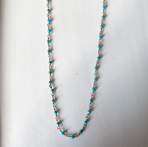 Collier ZAG or Joséphine / Turquoise