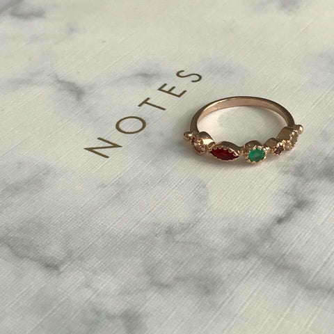 SOMSO: SOMSO - Bague Clarisse or rose