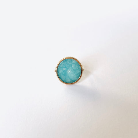 ::Bague Or Tondo / Aventurine ::