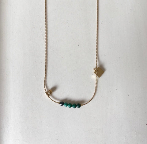 Collier ZAG Drew Or  / Malachite